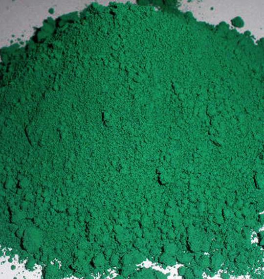 Spinel zelena pigment